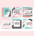 modern square banner design for social media vector image vector image
