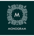 monogram design template with letters vector image