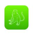 nasalis monkey icon green vector image vector image