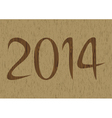 New year 2014 is coming soon4 vector image