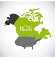 north america design vector image