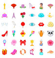 perfume icons set cartoon style vector image vector image