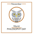 Philosophy Day vector image vector image
