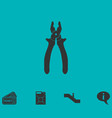 pliers icon flat vector image