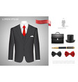realistic businessman style composition vector image