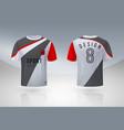 realistic soccer shirt jersey sport uniform mock vector image