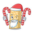 santa with candy waffle mascot cartoon style vector image