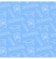 School seamless pattern on a blue background vector image vector image
