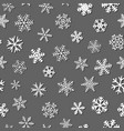 seamless pattern of snowflakes with shadows vector image vector image