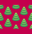 seamless pattern with isometric christmas trees vector image vector image