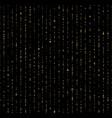 seamless unique gold rain bokeh on black vector image vector image