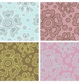 set lace seamless patterns with abstract flowers vector image