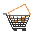 Shopping cart with computer monitor icon