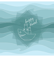 steamer and waves vector image