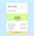 template layout for carton comany profile annual vector image vector image