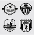 tennis logo badges vector image