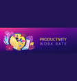 time management header or footer banner vector image vector image