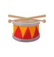 Toy drum cartoon icon vector image vector image