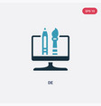 two color de icon from search engine optimization vector image vector image