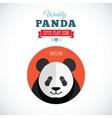 Weekly Panda Cute Flat Animal Icon - Smiling vector image
