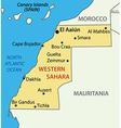 Western Sahara - map vector image