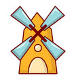 windmill icon cartoon style vector image vector image