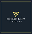 yp or vp triangle logo vector image vector image
