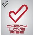 check love rise logo vector image