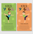 yoga kids vertical flyer design vector image