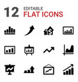 12 increase icons vector image vector image