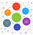 7 trendy icons vector image vector image