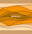 background with yellow and orange color paper cut vector image
