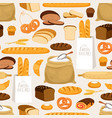 bakery bread seamless pattern cartoon breads vector image