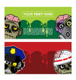 banner design with zombie theme vector image vector image