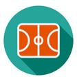 basketball field icon sports field icon sports vector image vector image