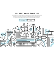 Best Music Shop - website header banner template vector image vector image