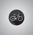 bicycle symbol flat vector image vector image