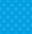 big house pattern seamless blue vector image vector image