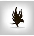 Black eagle with outstretched wings vector image