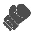 boxing glove solid icon sport equipment vector image vector image