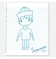 boy on a notebook sheet vector image