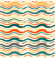 bright seamless pattern with hand drawn waves vector image vector image
