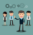 business people teamwork of employees and the vector image vector image