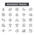 business travel line icons signs set vector image vector image