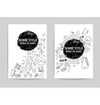 Card or page template Hand drawn doodles vector image