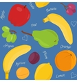 Cartoon fruit seamless pattern vector image