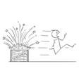 cartoon man bomb disposal expert or vector image