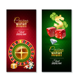 Casino Night 2 Vertical Banners Set vector image vector image