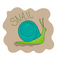 cheerful green snail smiling vector image vector image
