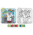 chemist coloring book profession abc alphabet c vector image vector image